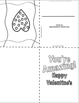 Valentine's Coloring Cards