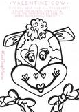 Valentine's Coloring Heart Cut & Paste