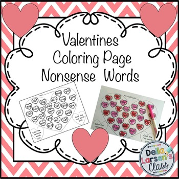 Valentine's Coloring Nonsense Words