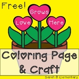 Valentine's Coloring Page and Craft FREEBIE!