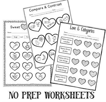 Valentine's No-PREP Language FREEBIE