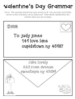 Valentine's Comprehension Pack: Close Read, Grammar,Writing