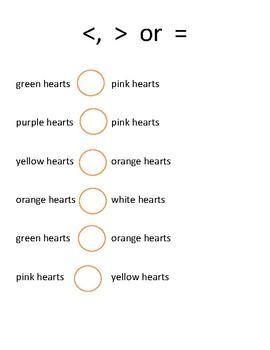 Valentine's Conversatin Hearts Math Activities