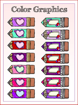 Valentine's Conversation Pencils (3 FREE Elements 10 FREE messages Included)