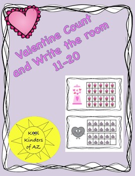 Valentine's Count and Write the Room 11-20