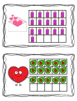 Valentine's Count and Write the Room 11-20 Center
