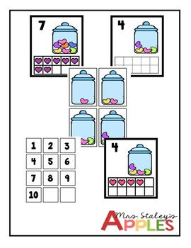 Valentine's Counting 1 - 10
