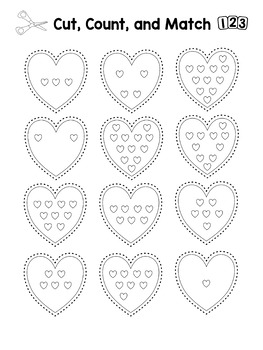 Valentine's Counting Activity Freebie: Matching Numbers 1-12