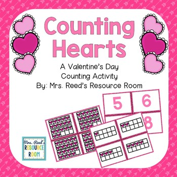 Valentine's Counting Hearts Cards- Freebie!