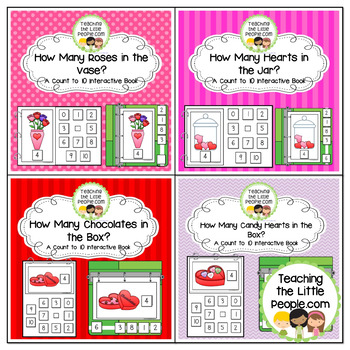 Valentine's Counting to 10 Interactive Book Bundle