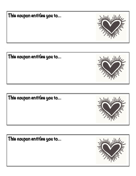 Valentine's Coupons (Students personalize for parents, teachers, friends...)