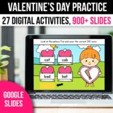 Digital Valentines Day Activities Math Games for Google Slides
