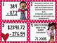 Valentine's Day Math Solve the Room (or Scoot!)