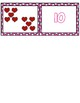 Valentine's Day 1-10 Cards ~ 1:1 Correspondence, Subitize, Numeral Recognition