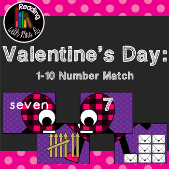 Valentine's Day 1-10 Number Match Puzzle Game