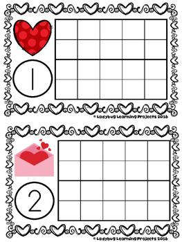 Valentine's Day 10/20 Frames (Math Center)