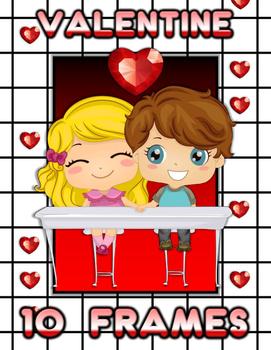 Valentine's Day 10 Frames Math Activities