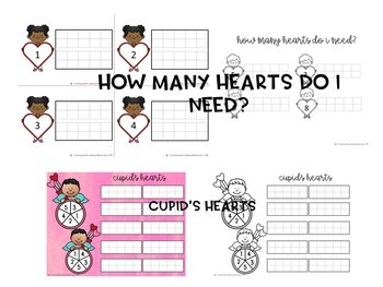 Valentine's Day 10 and 20 frame activity bundle pack