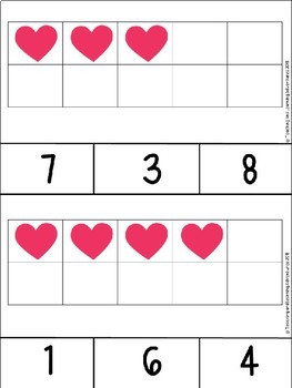 Valentine's Day 10 and 20 frame clip cards