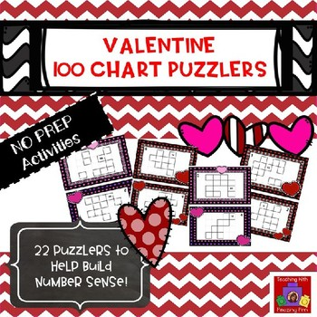 Valentine's Day 100 Chart Puzzlers