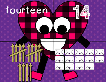 Valentine's Day 11-20 Number Match Puzzle Game