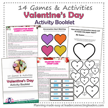 Valentine's Day: 14 Games & Activities for Troop Party Activity Booklet