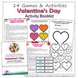 Valentine's Day Party Activity Booklet