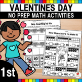 Valentine's Day Math Worksheets (1st Grade)