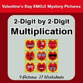 Valentine's Day: 2-Digit Multiplication - Color-By-Number Mystery Pictures