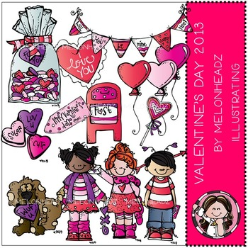 Valentine's Day clip art - 2013 - COMBO PACK- by Melonheadz