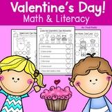 Valentine's Day Math & Literacy (Kindergarten, February Activities)