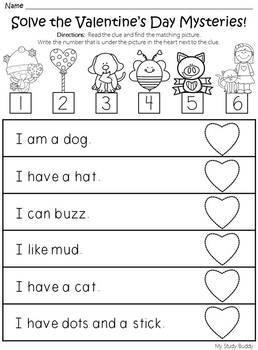 Valentine's Day Math & Literacy (Kindergarten, Valentine's Day Activities)