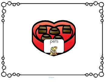 Valentine's Day Themed Categorizing for Preschool and Kindergarten