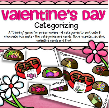 Valentine's Day Themed Categorizing for Preschool and Kind