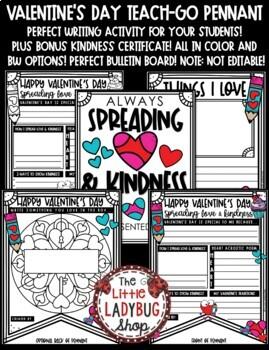 Valentine's Day Writing Activity • Teach- Go Pennants™