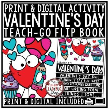 Love & Valentine's Day Writing Activity -Celebrating Valentine's Day Flip Book