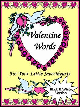 Valentine's Day Language Arts Activities: Valentine Words Flash-card Set