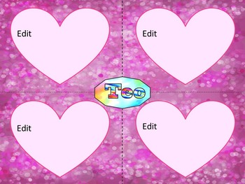 Valentine's Day - Activities - Writing - Editable Labels