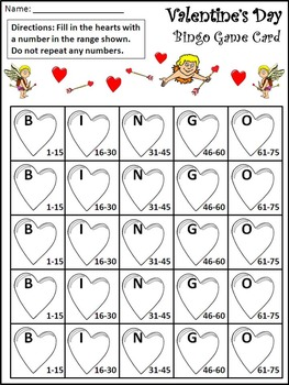 Valentine's Day Activities: Valentine's Day Bingo Game Activity Packet