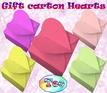 Gift carton Hearts - Craft BUNDLE - Teacher gift