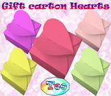 Gift carton Hearts -  Santa Claus - Craft BUNDLE