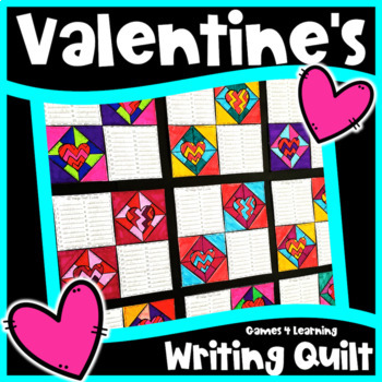 Valentine S Day Activity Valentine S Day Writing Prompts Quilt Tpt
