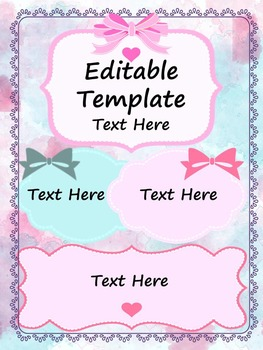 Poster Activity - Editable Template - Back to School Activity
