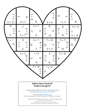 ADDITION Valentine's Math Games, Centers, or Activities | Make a FUN Card!