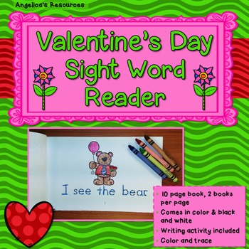 Valentine's Day: Sight Word Reader