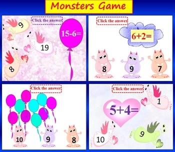 Monsters Game - Addition and Subtraction to 20