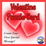 Valentine's Day Card - Make a Personalized Puzzle Heart