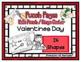 Valentine's Day - 26 Shapes - Hole Punch Cards / Bingo Dau