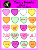 Valentine's Day 2D Candy Hearts Clip Art
