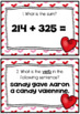 Valentine's Day 2nd Grade Math & Language Arts Review Scoot Task Cards
